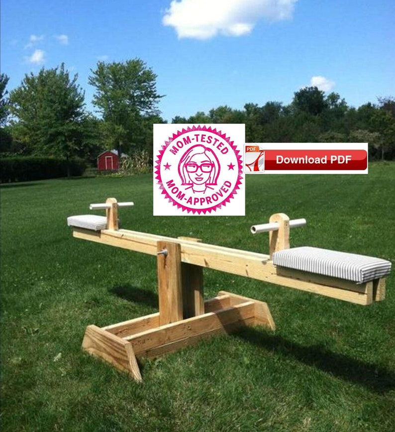 Teeter Totter Plan/wood playgound equipment plan/seesaw image 0