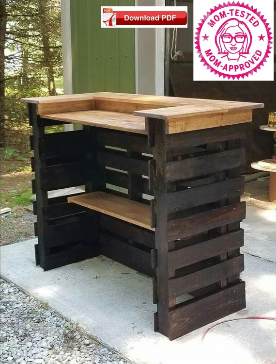 Pool Bar Plan Pallet Wood, How To Build An Outdoor Bar Out Of Pallets