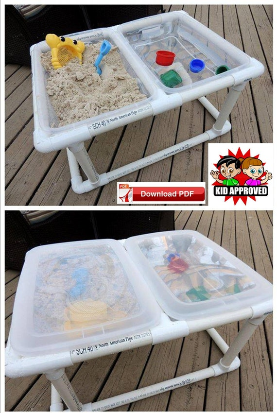 Sand Table plan/water table plan/sensory table plan/play station plan/outdoor tote plan/table top tote plan/pvc tote plan/outdoor game plan