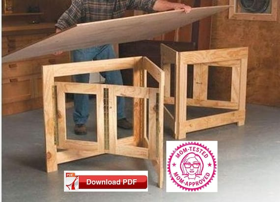 Folding Table Base Plan Folding Craft Table Base Plan Play Table Base Plan Craft Table Base Plan Wood Pdf Pdf Plan Diy Plan Craft Table Plan