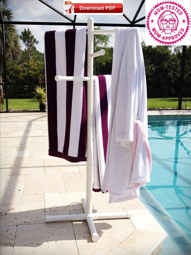 Pool Towel Drying Rack New Pool Towel Drying Rack Plan Pool Towel Tree Pvc Pipe Plan Etsy