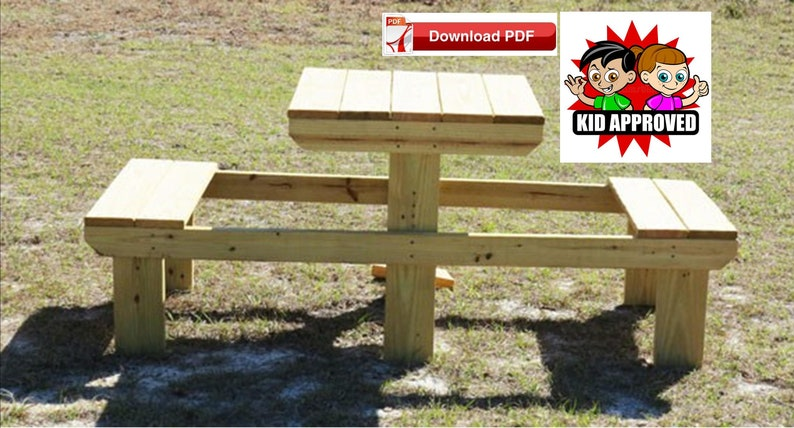Small Picnic Table Plan/childrens Picnic Table Plan/mini Picnic Table  Plan/compact Picnic Table Plan/kids Picnic Table/tiny Wood Table Plan