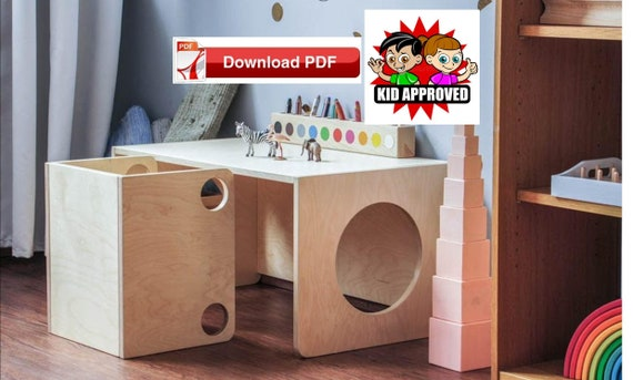 Terrific Montessori Cube Chairs And Desk Table Plan Diy Activity Table And Chair Plan Toddler Chair Plan Toddler Table Plan Kids Craft Table Plan Caraccident5 Cool Chair Designs And Ideas Caraccident5Info