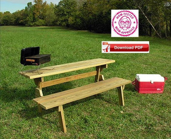 Admirable Bench Table Combo Plan Picnic Table Bench Combo Plan Table Bench Combo Plan 2 In 1 Table Bench Plan Picnic Table Plan Pdf Plan Pdf Pattern Dailytribune Chair Design For Home Dailytribuneorg