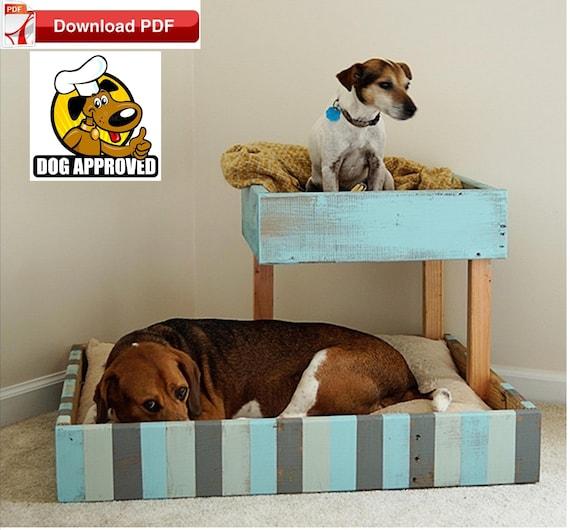 Dog Bed Plan Pet Bed Plan Diy Dog Bunk Bed Diy Cat Bed Etsy