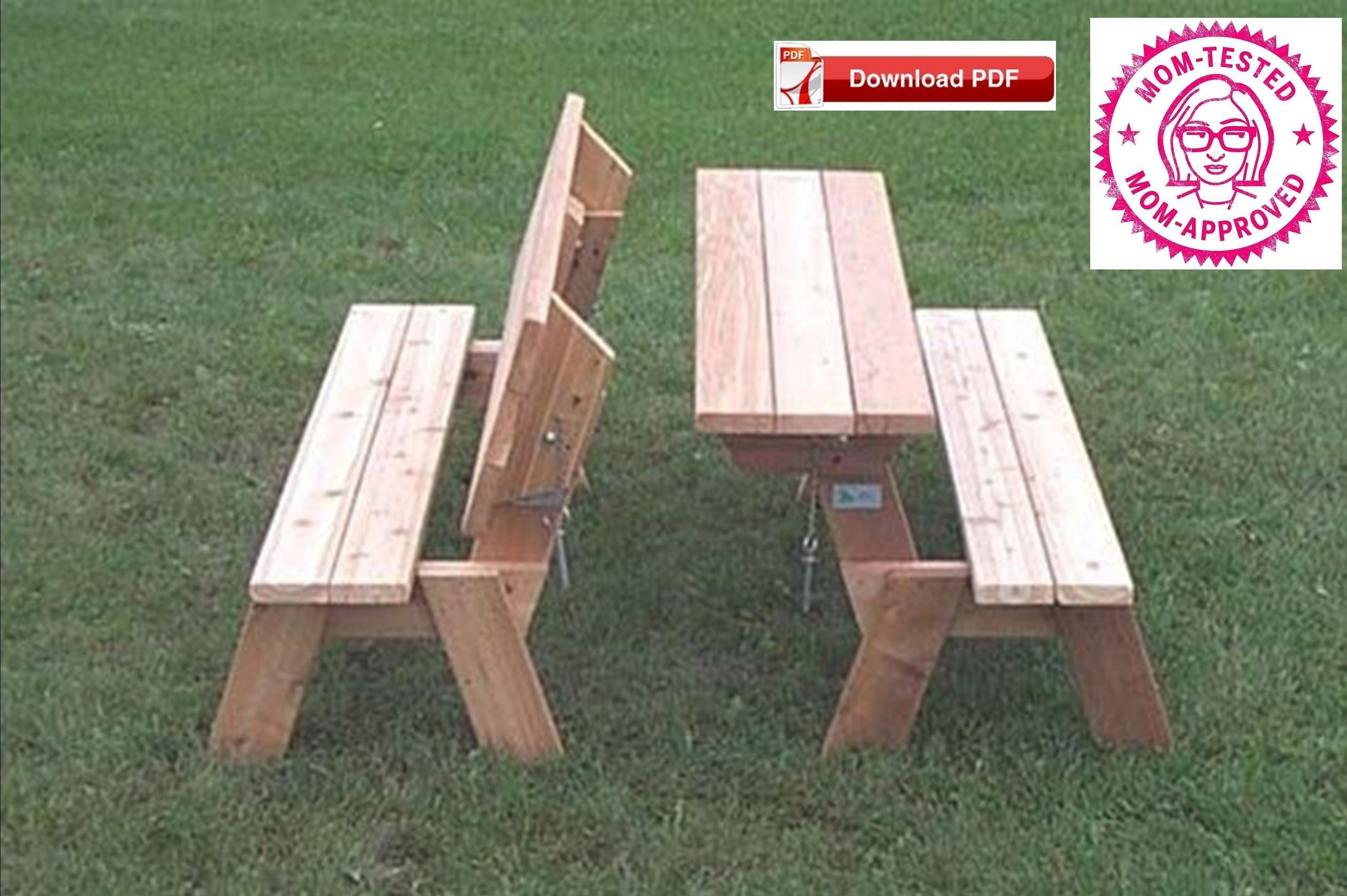 Charmant Folding Picnic Table Plan/Folding Bench Plan/Combo Picnic Table Bench  Plan/Porch Bench Plan/Picnic Table Table Plan/PDF Plan/Wood Pattern
