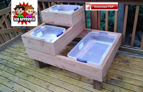 Water Table Plan Sand Table Plan Sensory Table Plan Plastic Play Tote Stand Plan Sand Table Stand Plan Water Table Stand Plan Play Tableplan