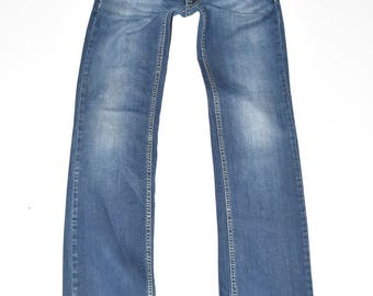 6d9ce203894cde Vintage Blue Denim FORNARINA Straight Leg Stonewashed Casual Women's Jeans  Size W28