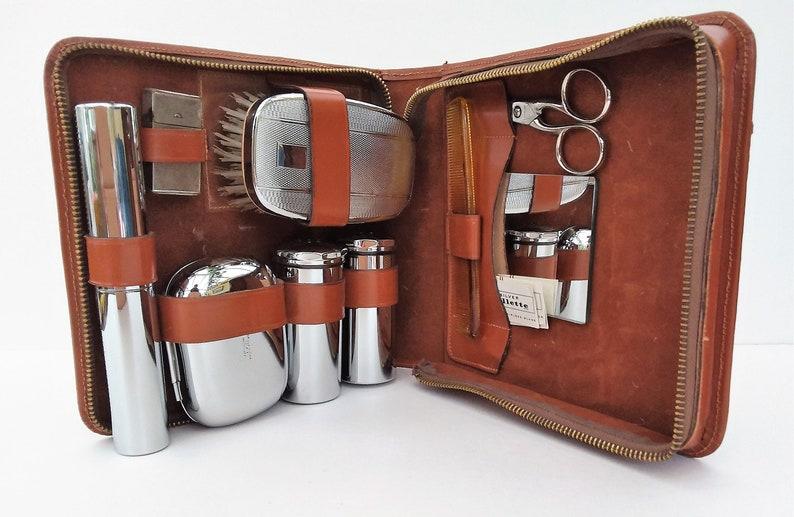 super popular 8f113 b86d9 Gentlemen's grooming vanity set, travel accessory for men, chrome shaving  and grooming set.
