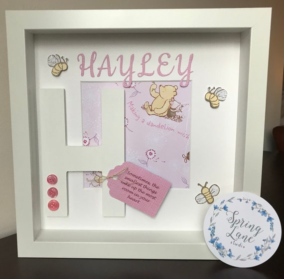 Winnie the Pooh Personalized Baby Frame | Etsy