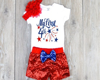 96ea60479 4th Of July Baby Girl 1st 4th of July Outfit Girl 1st 4th of July Outfit My  First Fourth Top Baby 4th of July Outfit Available in 6M-3T