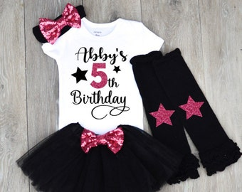 Girl 5 Year Old Birthday Shirt 5th Outfit