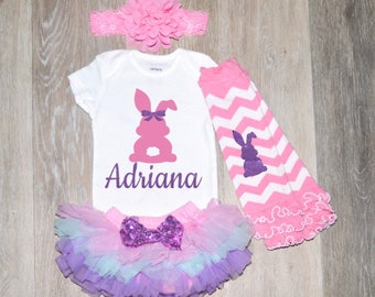 b857f440 Toddler Easter Outfit Personalized Baby Girl Easter Outfit 1st Easter  Outfit Girl First Easter Outfit | Easter Kids Clothing | Easter Outfit