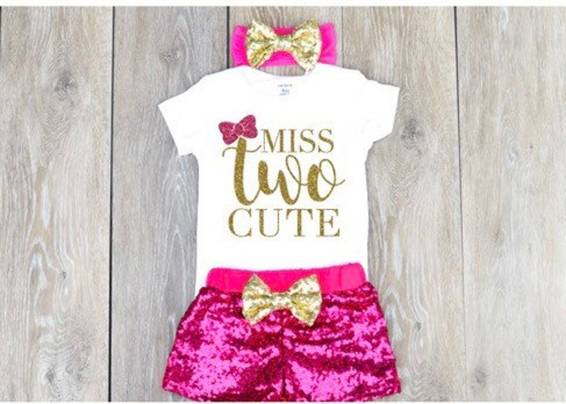 5dfe25314aec 2nd Birthday Outfit Girl Two Year Old Birthday Outfit Miss Two | Etsy