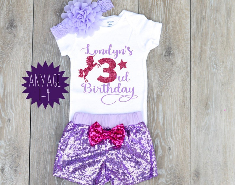 Unicorn 3rd Birthday Outfit Girl Summer