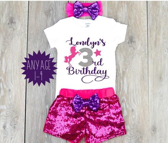 Birthday Shirt Girl 3 3rd