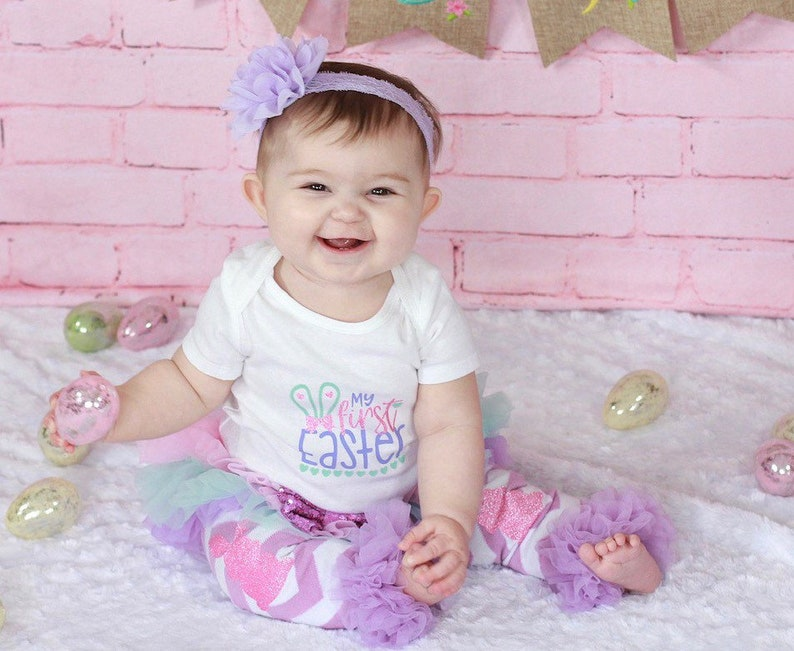 Baby Girl Easter Outfit 1st Easter Outfit Easter Outfit Baby Girl Easter for Newborns My First Easter Baby Easter Outfit