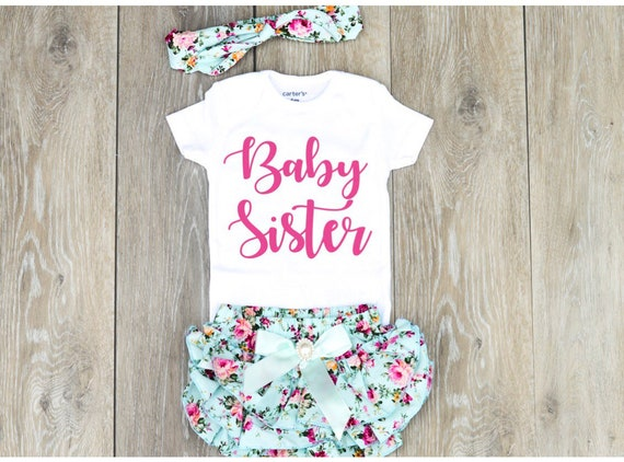 600aed1756d0d Baby Sister Outfit Baby Sister Newborn Outfit Baby Sister | Etsy