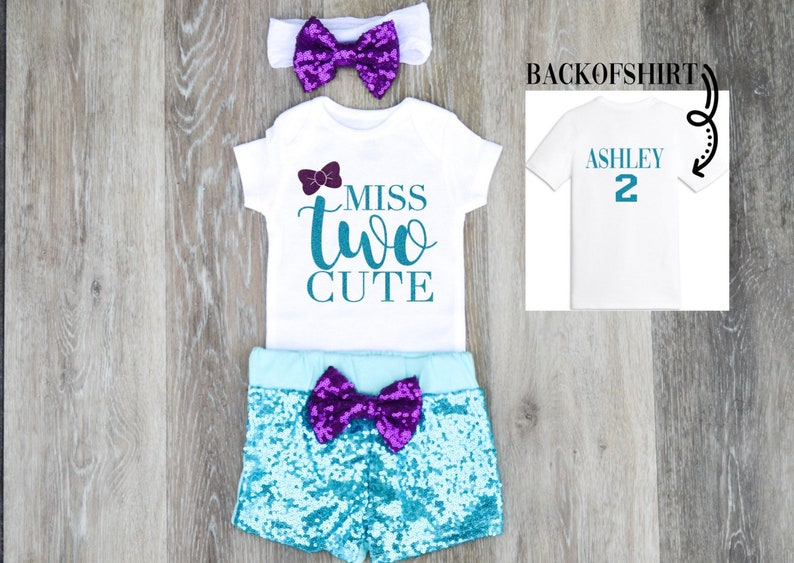 3c411838d6b4 Girl 2nd Birthday Outfit Girl Two Year Old Birthday Outfit | Etsy