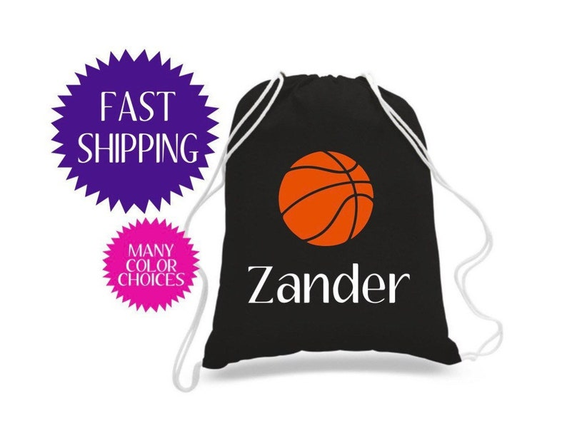 Basketball Gifts Youth Basketball Bag Basketball Player Gift Kid Basketball Drawstring Bag Toddler Boy Gift Toddler Boy Bag Sports Backpack