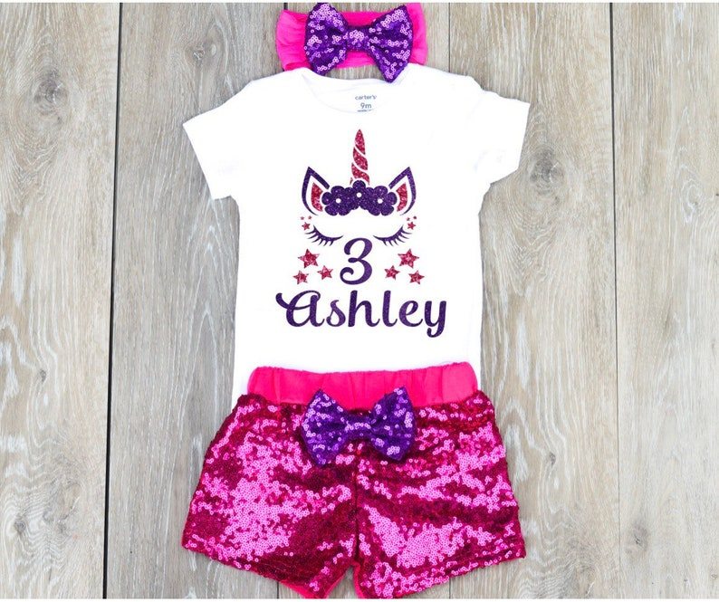 Unicorn 3rd Birthday Outfit Girly