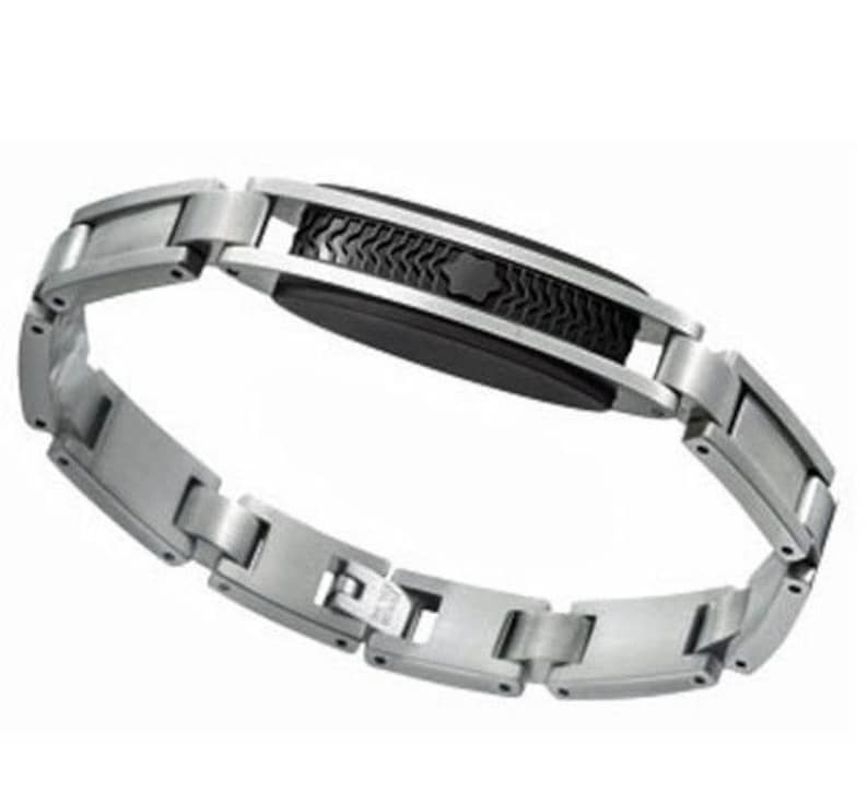 54b51344267cac Mont Blanc Bracelet MontBlanc Stainless Steel 8 inches NEW   Etsy