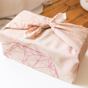 3 sheets minimal double-sided graphic gift wrap Gift Wrapping Paper two-sided coral orange pink with small arrow pattern for diy etc.