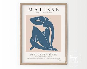 Matisse Wall Art Print, Henri Matisse Poster, Matisse Cut Out, Female Nude, Line Art, Woman Abstract Art, Beige Wall Decor, Modern Poster