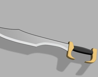 3D Printed Spartan Sword Model for Cosplay