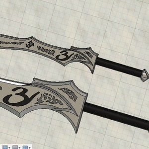 Replica Seraph Blades inspired from Shadow Hunters for Cosplay