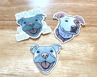 Pitbull owner sticker, pitbull breed sticker, cute dog sticker, gifts for pitbull owner, bully dog sticker, American staffordshire sticker