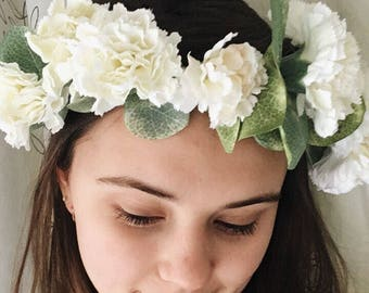 Handmade Carnation Flower Crown | Bridal | Accessory