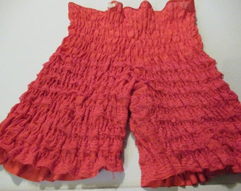 972152bd7b8c Vintage 1980 Lightly Used Red Long Pettipants by Malco Modes N21