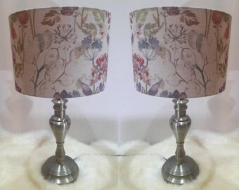 Square Lampshade made with Voyage Wallace Stag Animal Natural Handmade Painted Lamp