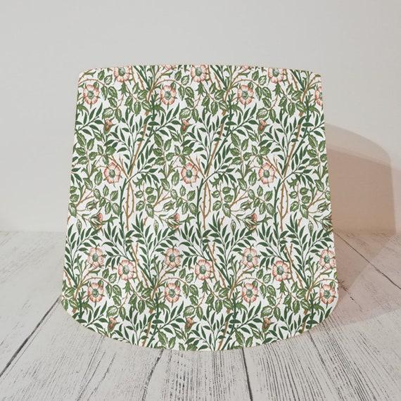 Handmade Tapered Drum Lampshade William Morris Willow Bough Green fabric 25cm