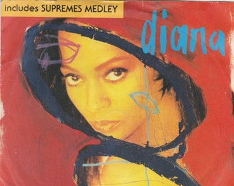 """Diana Ross - The Force Behind The Power Supremes Medley 7"""" single"""