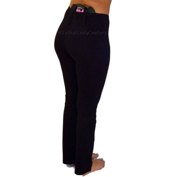 Women's Concealed Carry Yoga Pants CCW IWB Ladies