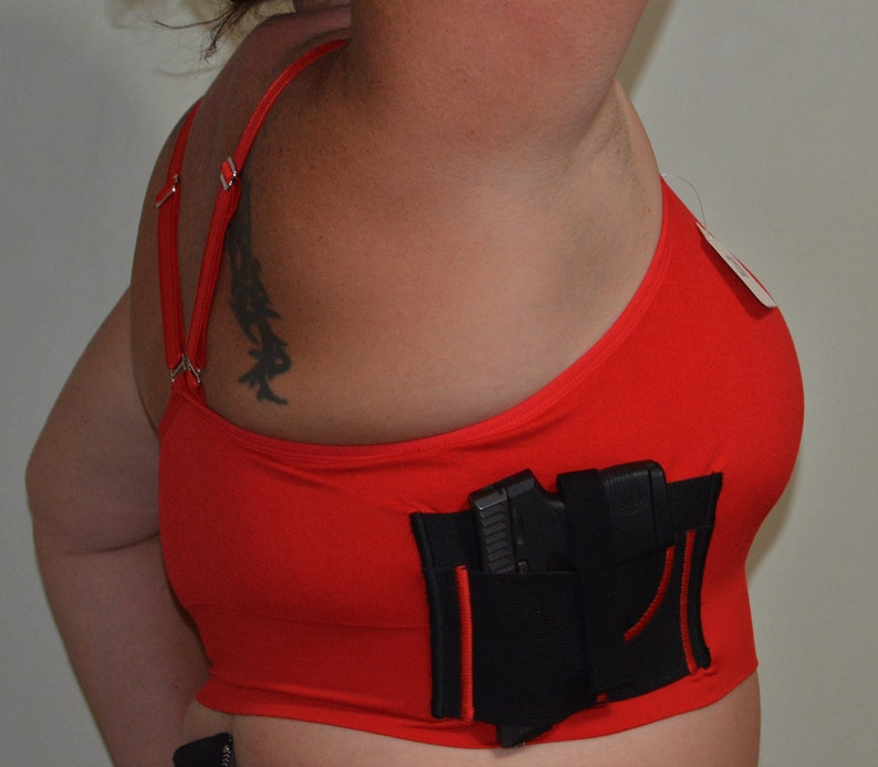 8bb37b6ef713a Women s Red Concealed Carry Bra with Gun Holster CCW Tactical Plus ...