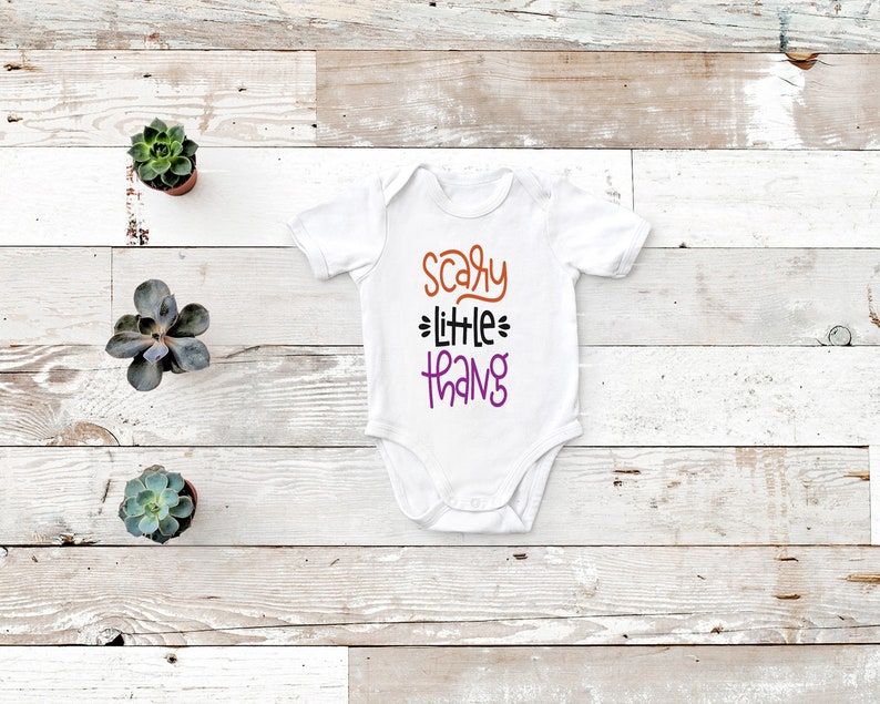 Scary little thang Halloween baby toddler big kid onesie bodysuit shirt