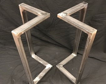 Metal Table Legsl Shape Sofa Table End Table Set Of 2 Handmade Table Base Custom Table Base Custom Table Legs