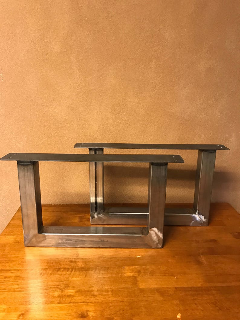 U Shape Metal Table Legs End Table Coffee Table Dining Etsy