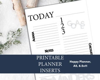 Printable Daily Planner, Multiple Sizes