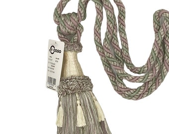 Conso Empress Collection 21920 Color C15 CREAM Decorative Drapery Curtain 6 Tassel Tieback Sold by the piece