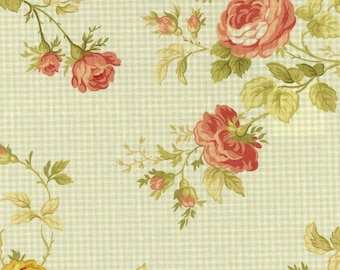 Waverly SEASIDE ROSE Color Sage Green 667932 Home Decor Cotton Drapery Sewing Fabric By the Yard BTY