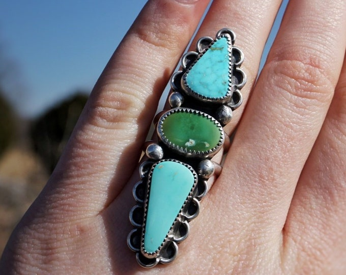 Turquoise High Vibes Goddess Ring, 6 1/4