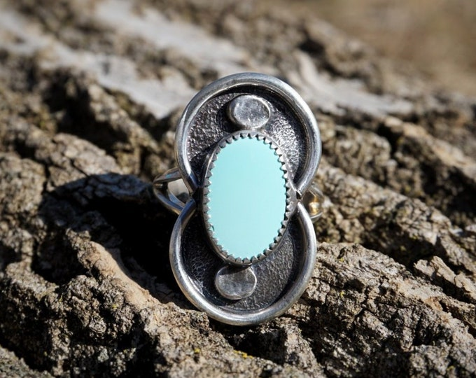 Turquoise High Vibes Ring, Size 8