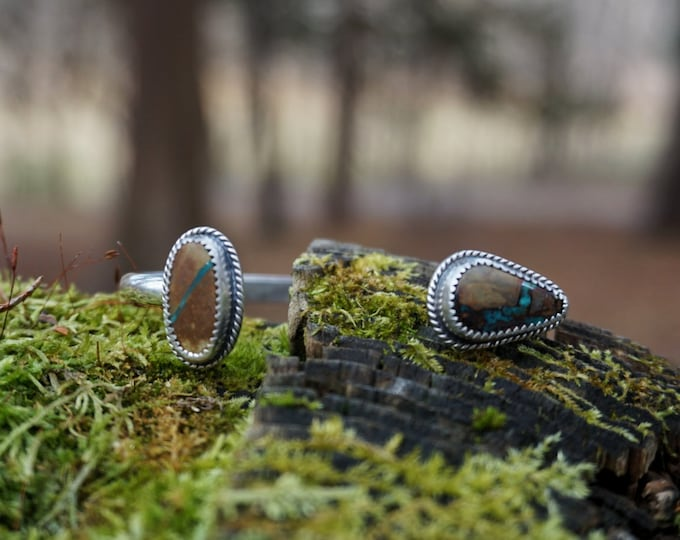 Floating Stones Turquoise Cuff