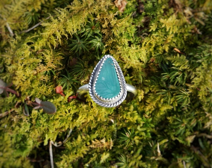 Royston Turquoise Stacker Ring, Size 7 1/2