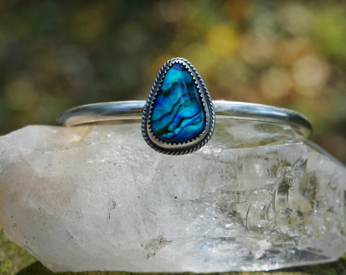Electric Blue Abalone Cuff