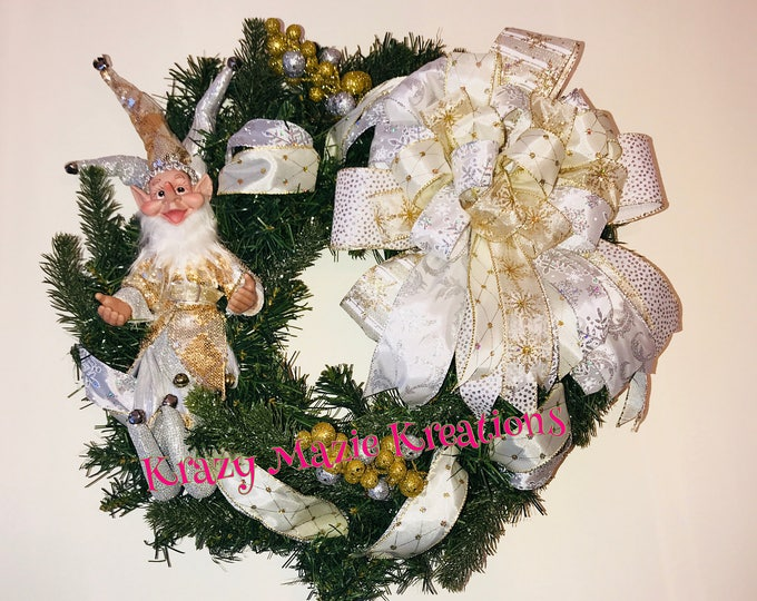 Gold & Silver Elf Wreath